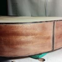 Håndlaget gitar detalj, intarsia