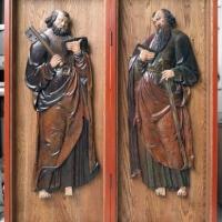 diptych med treskurd av Per og Pål fra 1400 tallet